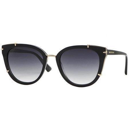 Ana Hickmann okulary przeciwsłoneczne czarne kocie oczy ze złotymi zdobieniami