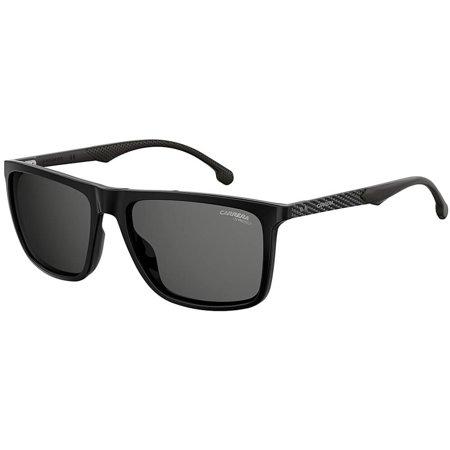 Carrera klasyczne czarne okulary przeciwsłoneczne męskie z karbonowym zausznikiem