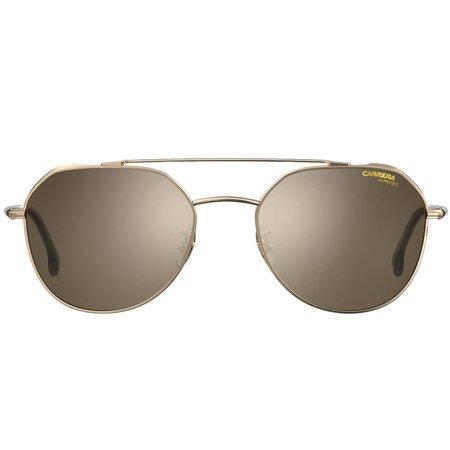 Carrera okulary przeciwsłoneczne złote pilotki, ze złotymi lustrzanymi soczewkami