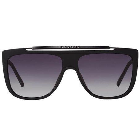 Converse okulary przeciwsłoneczne męskie, masywne pilotki w kolorze czarnym