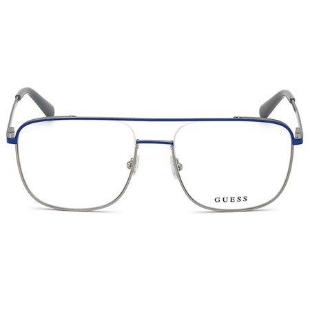 Guess designerskie męskie okulary metalowe w stylu aviator GU 1998 091