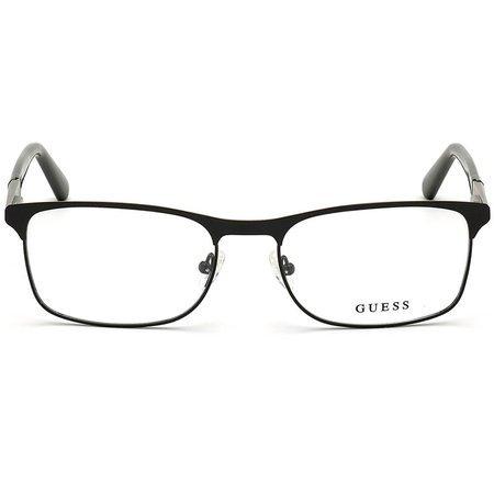 Guess męskie metalowe okulary z czarnym frontem GU 1981 002 (57)