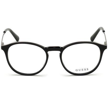 Guess okrągłe męskie okulary w kolorze błyszczącej czerni GU 1983 001