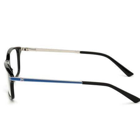 Guess prostokątne męskie okulary kolor błyszcząca czerń GU 1986 001 (55)