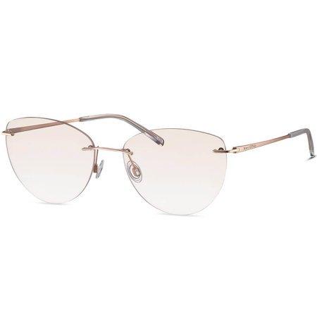 Marc O'Polo lekkie bezramkowe okulary przeciwsłoneczne w kształcie kocich oczu
