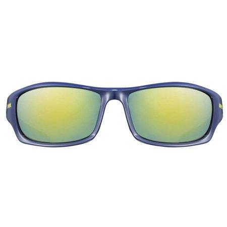 Okulary sportowe Uvex granatowo-niebieskie z lustrzanymi szkłami Sportstyle 211 blue S5306134416