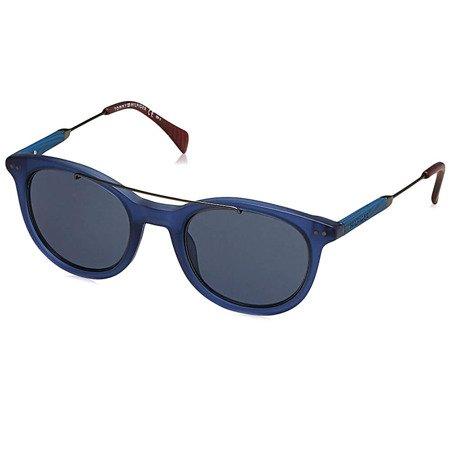 Tommy Hilfiger granatowe okulary przeciwsłoneczne z poprzeczką TH 1348/S