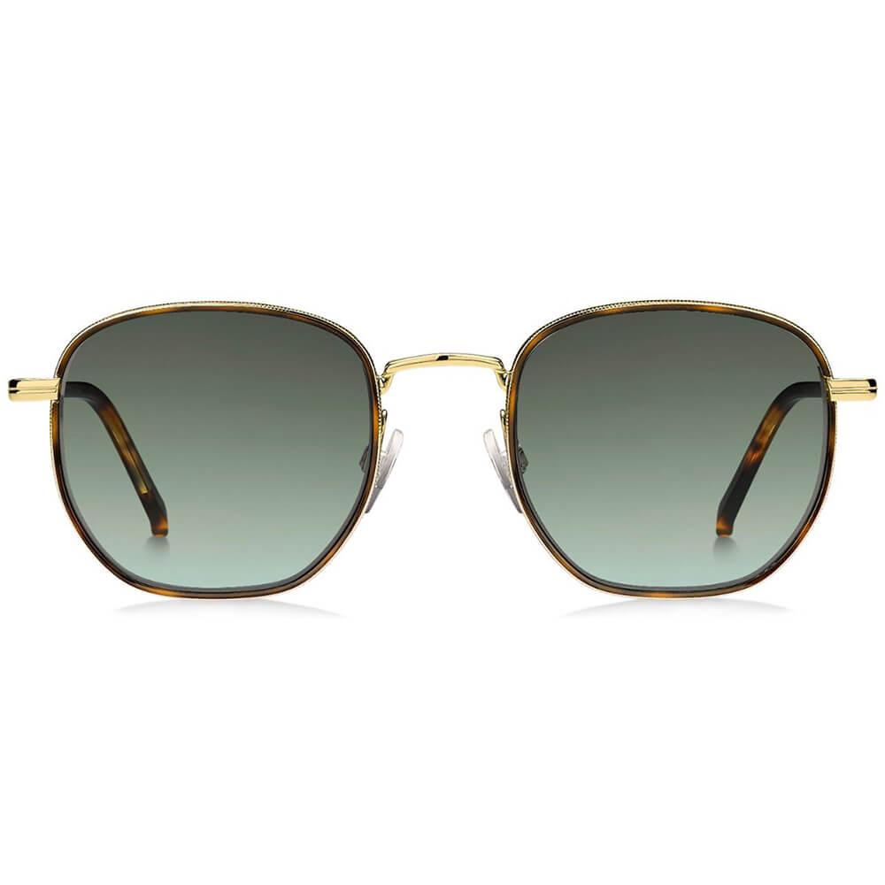 Tommy Hilfiger metalowe okulary przeciwsłoneczne złote z szylkretową obwódką soczewek