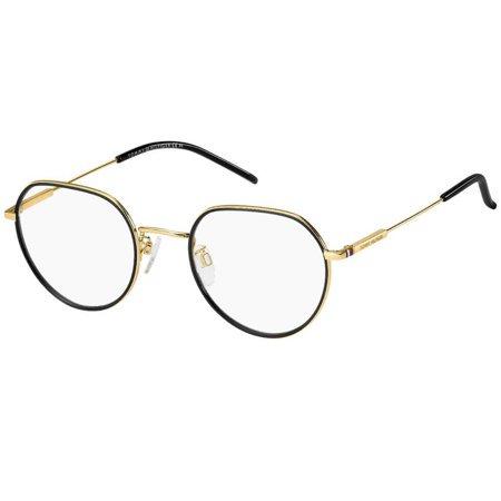Tommy Hilfiger owalne okulary koloru czarno-złotego TH 1736/F