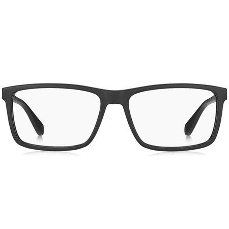 Tommy Hilfiger prostokątne męskie okulary kolor czarny TH 1549 003