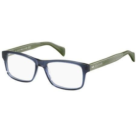 Tommy Hilfiger uniwersalne granatowe okulary z acetatu TH 1255 4KL