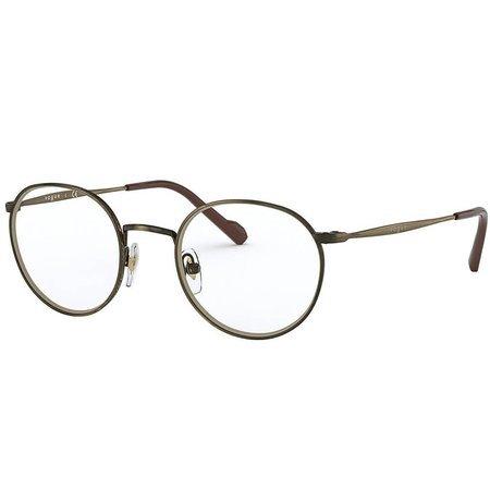 Vogue stylowe owalne okulary korekcyjne w kolorze starego złota
